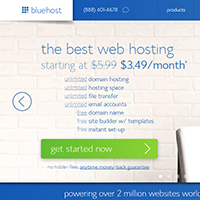 Web Hosting Promotion For Black Friday - BlueHost