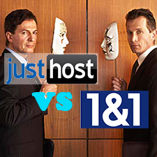 JustHost VS 1and1 – Shared Web Hosting Comparison