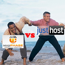 MidPhase VS JustHost – Budget Web Hosting Comparison