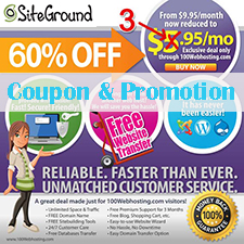 SiteGround Coupon & Promotion