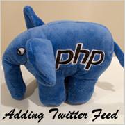 adding twitter feed to wordpress using php