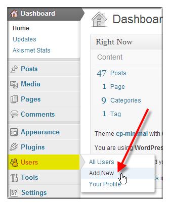 Change WordPress Username via WordPress Dashboard - Step 1