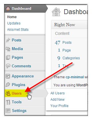 Change WordPress Username via WordPress Dashboard - Step 5