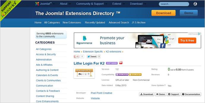 trustworthy extensions of joomla