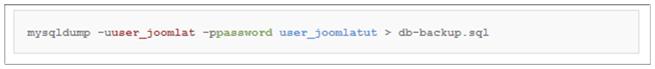 Backup Joomla Database SSH 2