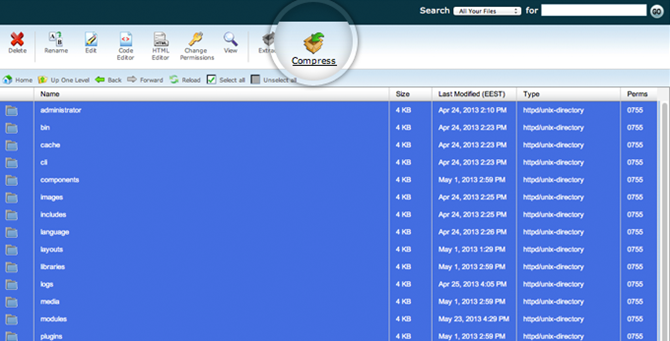 Backup Joomla Files 1