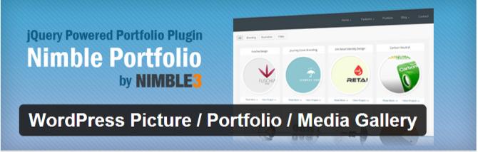 best wordpress portfolio plugin nimble portfolio