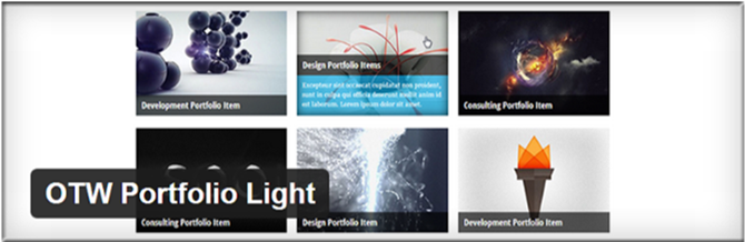 best wordpress portfolio plugin OTW portfolio light