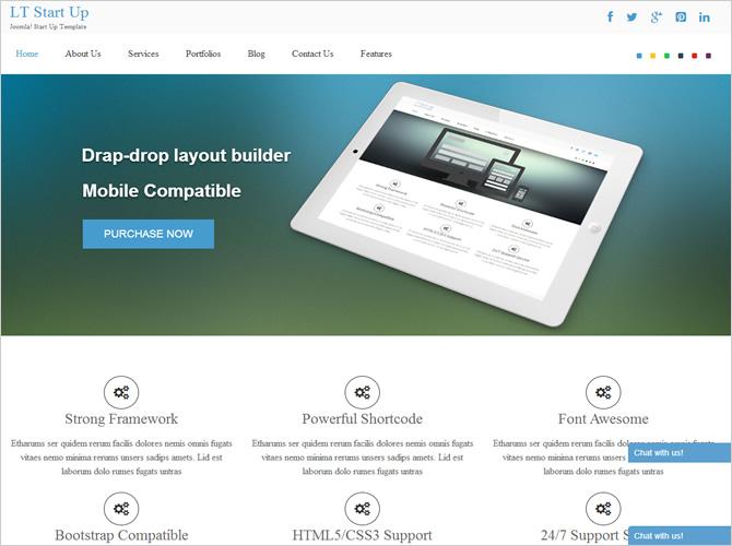 Best Joomla Business Templates - LT Start Up