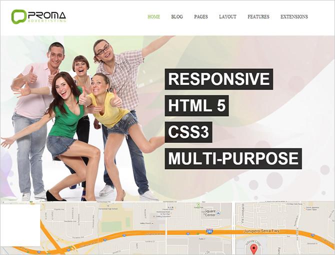 Best Joomla Business Templates - Proma