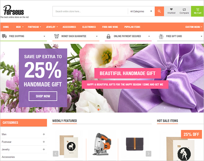 Best Responsive Magento Themes - Perseus