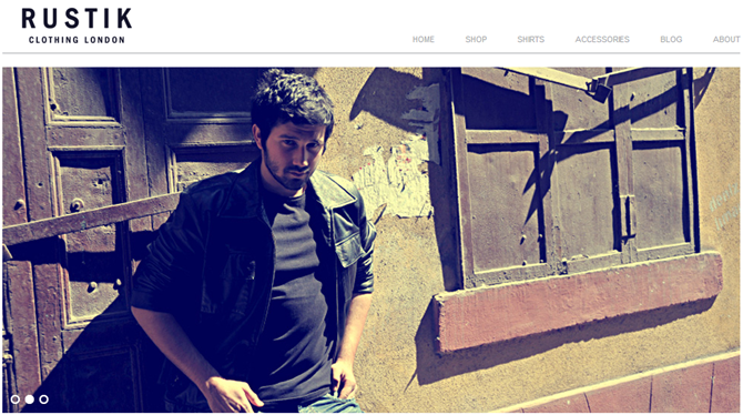 WordPress Minimalist Theme - Rustik