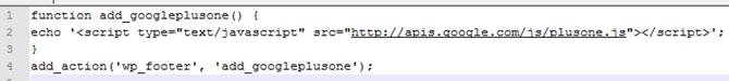 google plus one code