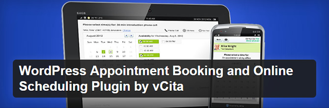 WordPress Scheduling Plugins - WordPress Appointment Booking by vCita