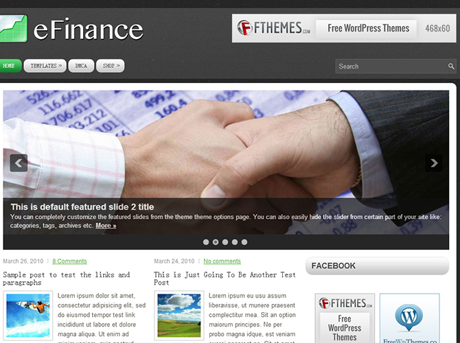 Best 3-Column WordPress Themes - eFinance
