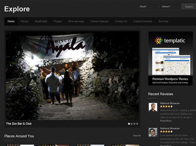 WordPress Minimalist Theme - Explore