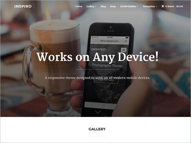 WordPress Minimalist Theme - Inspiro