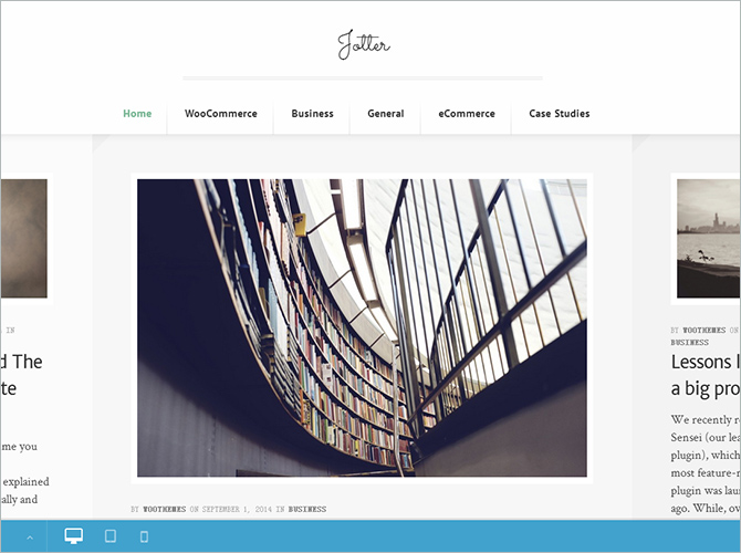 WordPress Minimalist Theme - Jotter