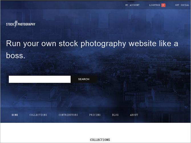 WordPress Minimalist Theme - Stock Photography
