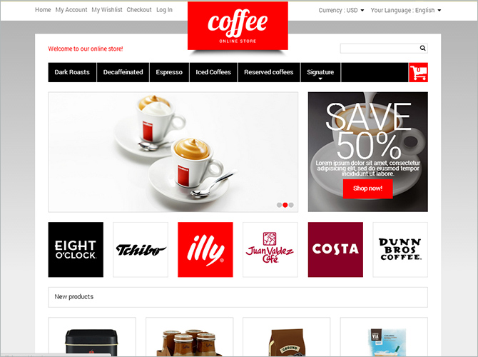 Best Responsive Magento Themes - coffee
