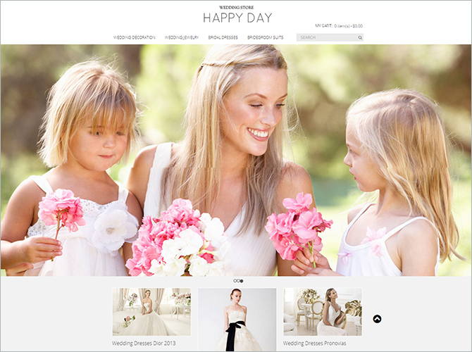 Best Responsive Magento Themes - happy day