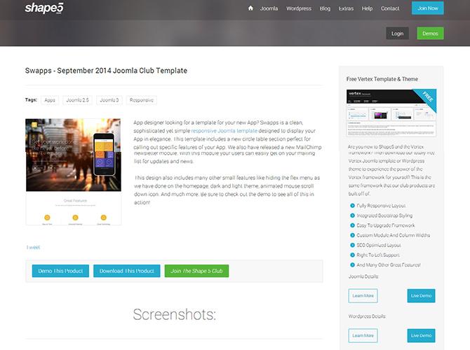 Best Joomla Business Templates - swapps
