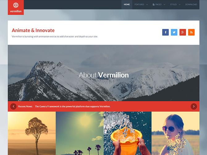 Best Joomla Business Templates - vermilion