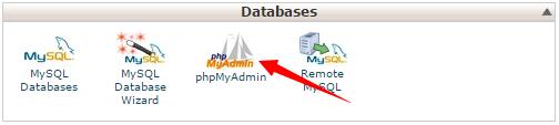 cpanel database phpmyadmin