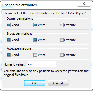 Change File Permission Using FileZilla