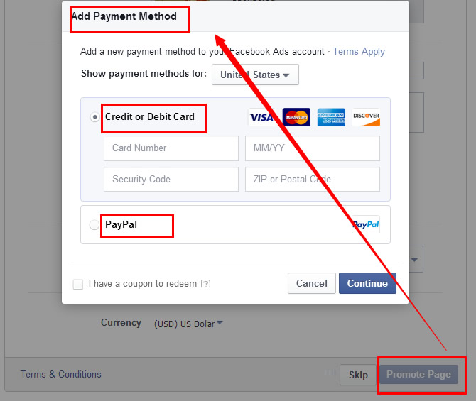 Create a Facebook Business Page