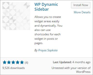 install wp dynamic sidebar plugin