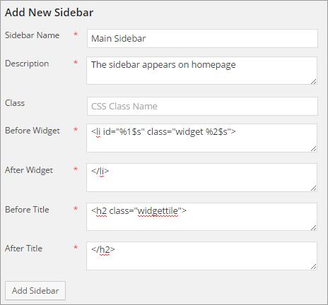 add new sidebar