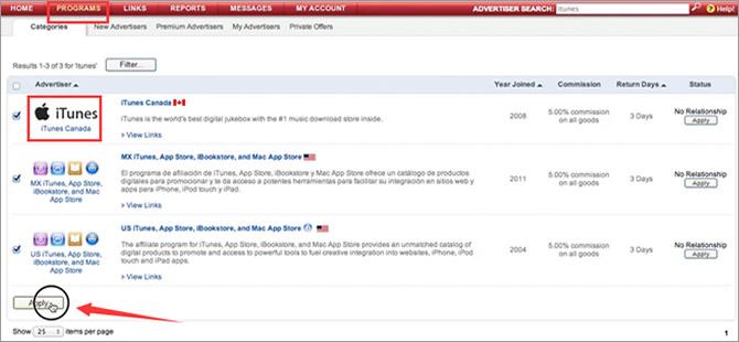 iTunes Affiliate Program - Register with iTunes